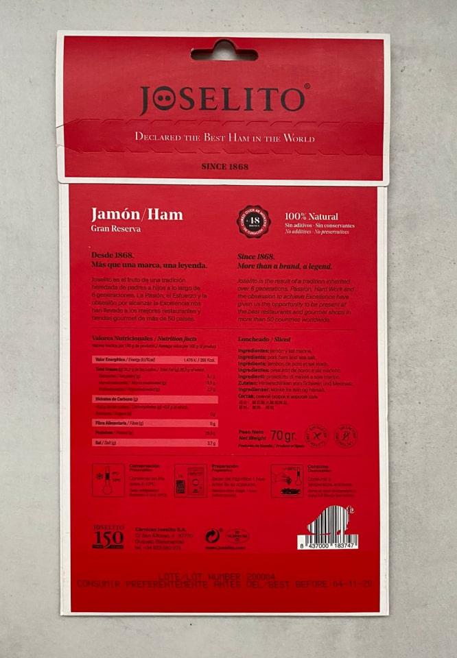 Jamón Joselito a fette 3
