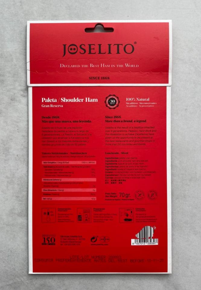 Paleta Joselito Fatiada 3
